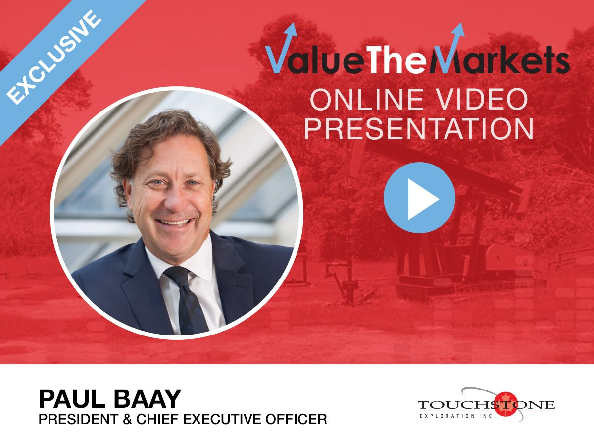 Touchstone Exploration online presentation: Paul Baay discusses Q1 results and upcoming drilling of Ortoire Block (TXP)