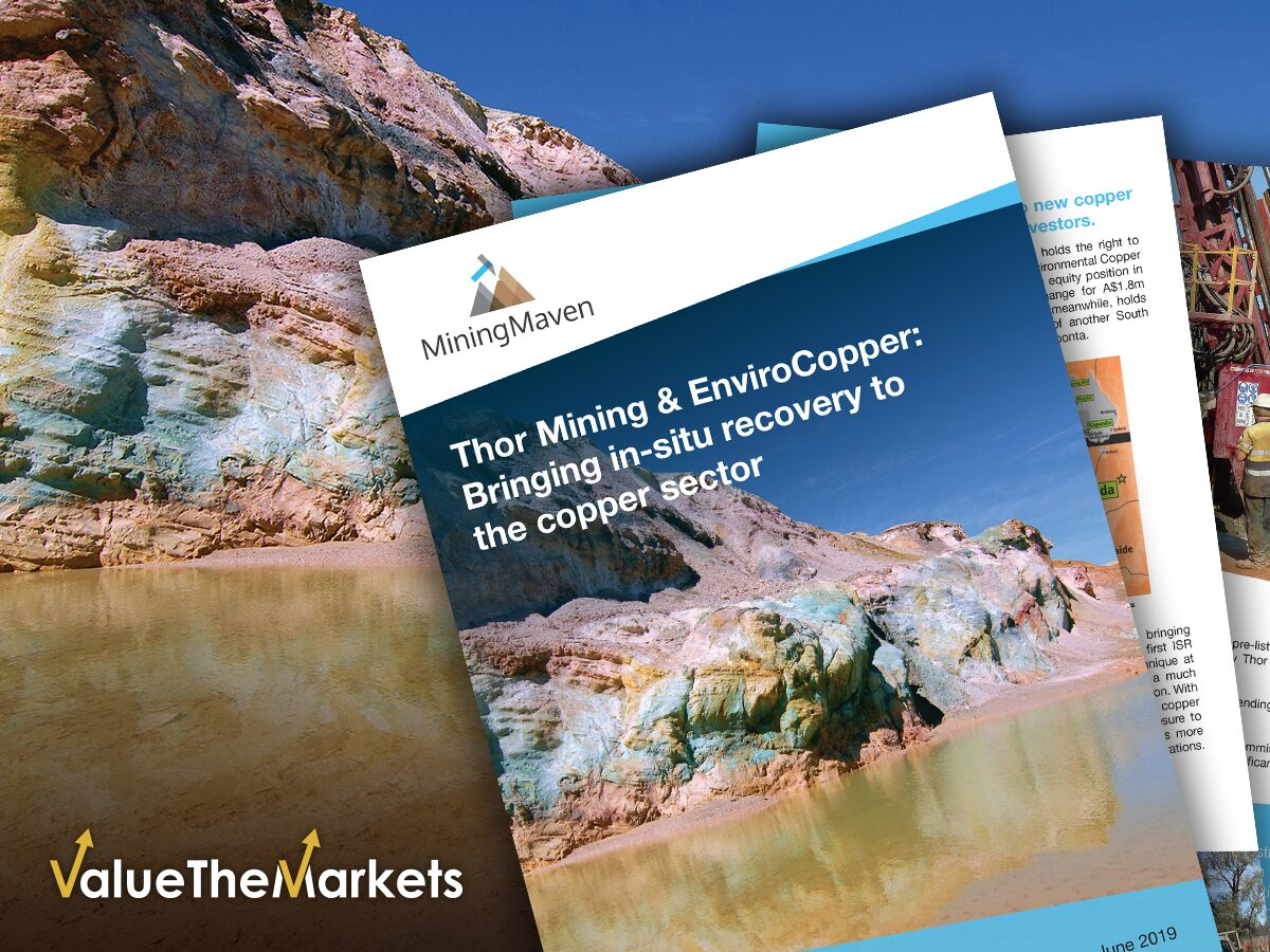 Thor Mining: is EnviroCopper closing in on more than half a million tonnes of copper at Moonta? (THR)