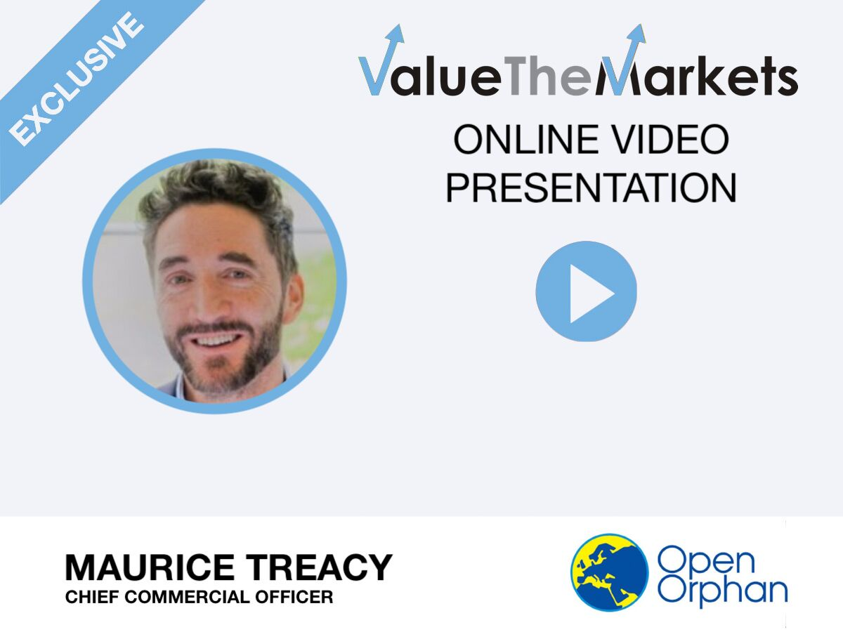 VIDEO: Open Orphan's Maurice Treacy details pharma services firm's ambitious growth plans in exclusive ValueTheMarkets presentation (ORPH)