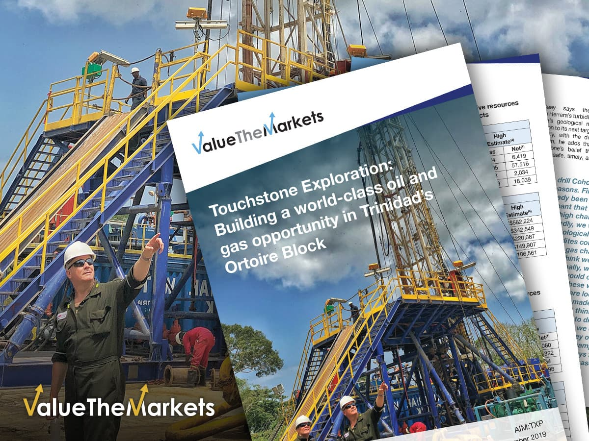 REPORT: Touchstone Exploration- Fully funded to execute its strategy at Ortoire (TXP)