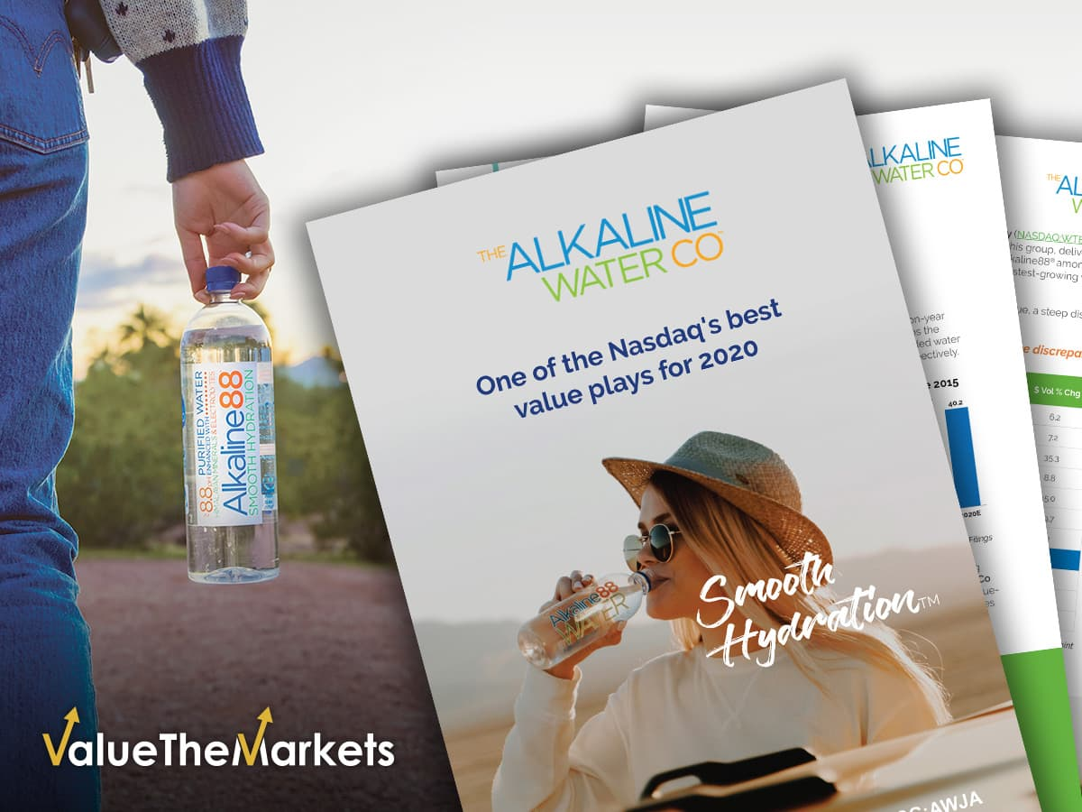 Exceptional sales growth poised to deliver a multiple return for shareholders of The Alkaline Water Company (NASDAQ:WTER | CSE:WTER | F:AWJA | SG:AWJA)
