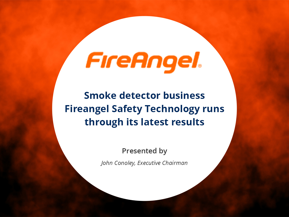 VIDEO: Smoke detector business Fireangel Safety Technology runs through its latest results