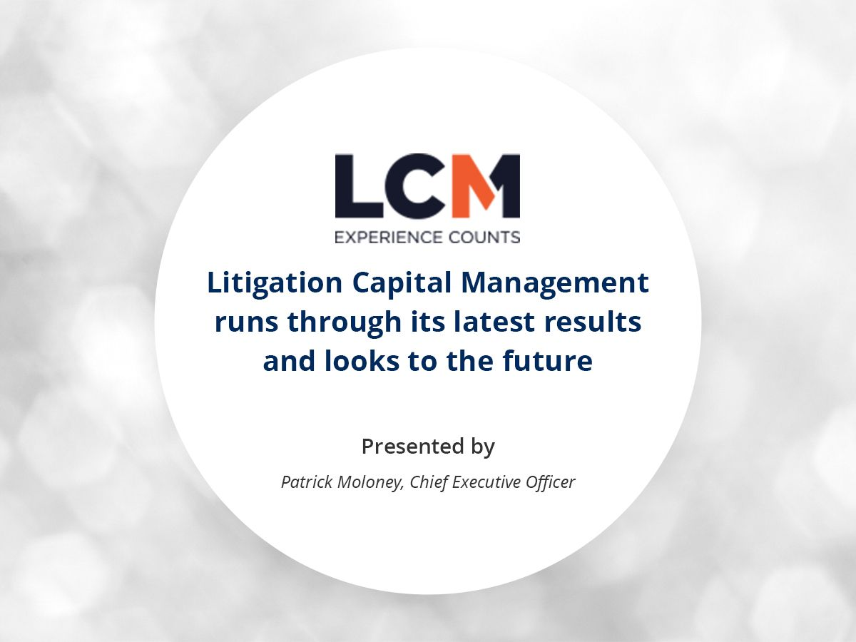 VIDEO: Litigation Capital Management runs through its latest results and looks to the future