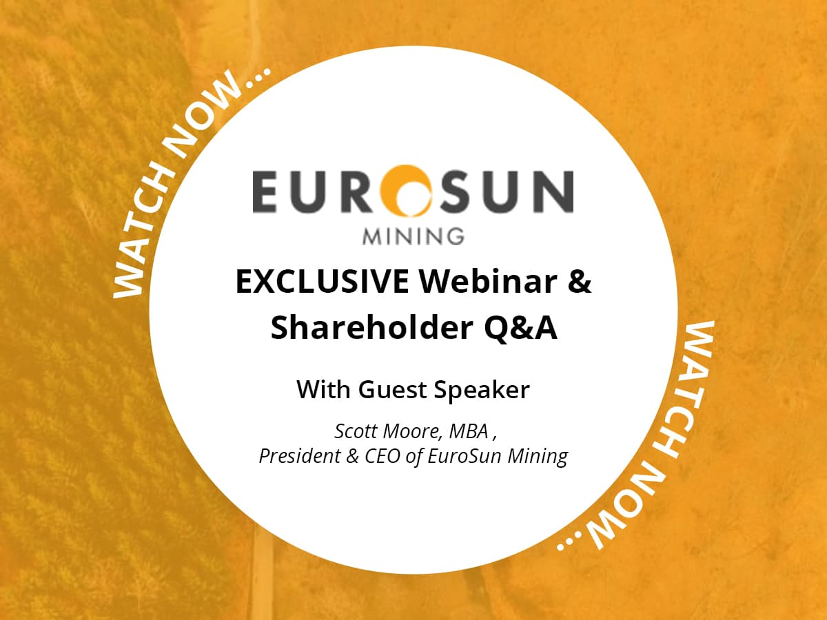 Exclusive Shareholder Webinar With Euro Sun Mining CEO Scott Moore
