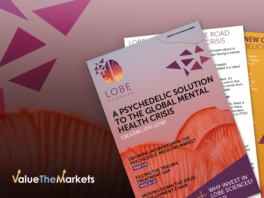 Pioneering psychedelic medicine company Lobe Sciences is breaking new ground in the fight to combat a 'silent epidemic'