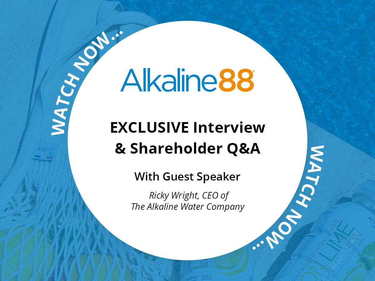 An Exclusive Interview With The Alkaline Water Company CEO, Ricky Wright