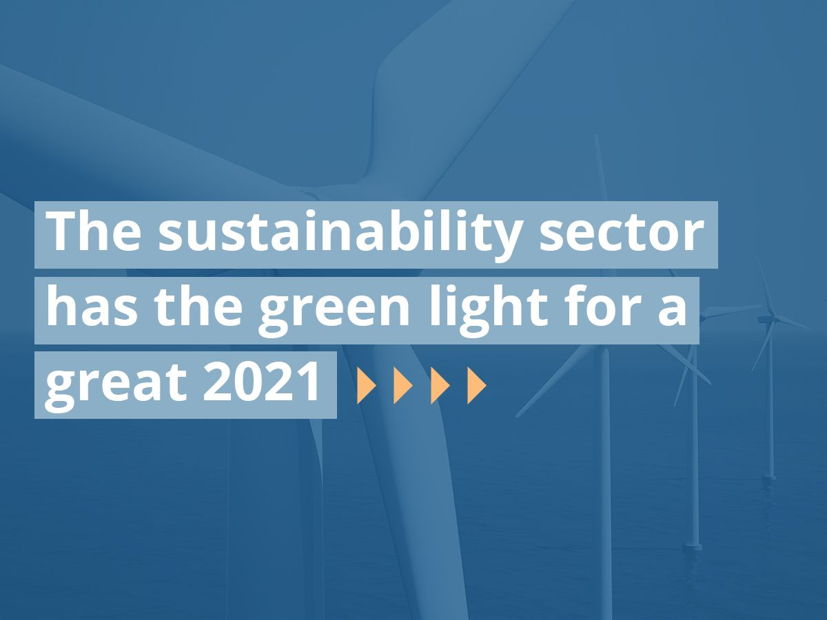 The sustainability sector has the green light for a great 2021