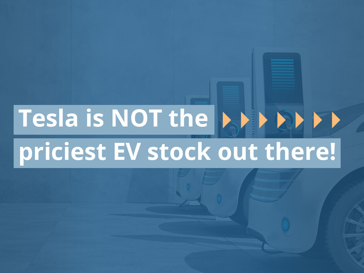 Tesla is NOT the priciest EV stock out there!