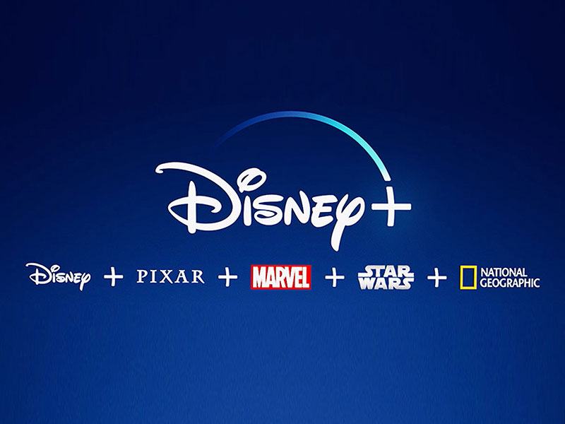 Disney Plus Streaming Service as shown on TV