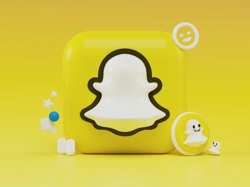 Snapchat 3D icon concept