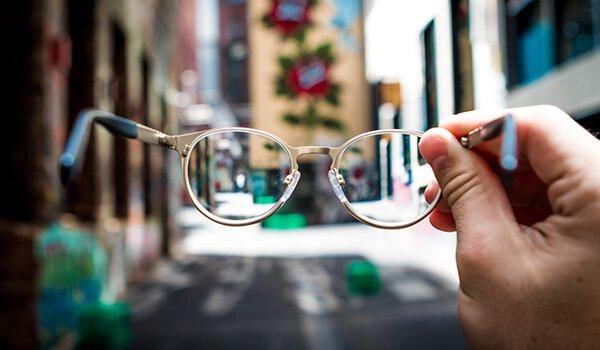 blurry vision through glasses