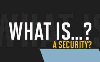 What is a security?