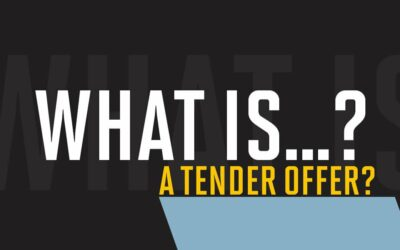 What is a tender offer?